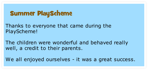 Thanks to everyone that came during the PlayScheme!